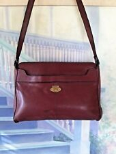 Original Etienne Aigner Vintage Handcrafted  Women's Shoulder Bag Burgundy