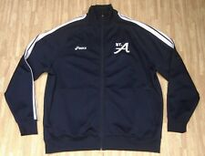 St. Ambrose University Fighting Bees Full Zip Asics Blue Jacket ~ Men's XL ~ LS