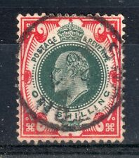 GB = E7 1/- Green & Red (Shades) SG257/9 & SG312/14. Used. (S947)