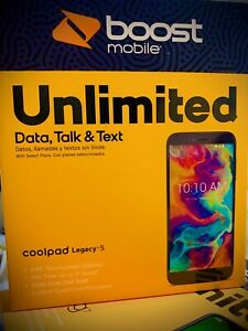 Boost Mobile Coolpad Legacy S 16GB Prepaid Smartphone - Brand New Sealed
