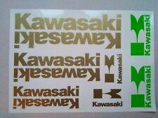 Kawasaki Aufkleber Gold