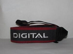 Canon Camera Red-Grey-White Neck Strap - Worldwide