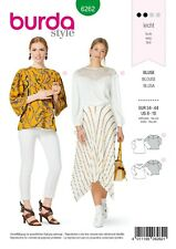 BURDA STYLE PATTERN 6262 MISSES' BLOUSES, PULL-ON WITH SLEEVE AND YOKE VARIATION