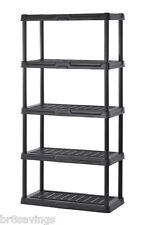 Keter Poly Resin 5 Tier Shelf 36 x 18 x 72 Garage Storage Utility Rack Organizer