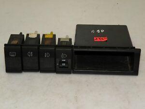 AUDI 90 1990 TYP89 LHD HEADLIGHT HEIGHT FOG LIGHT HEATED WINDOW SWITCH BUTTON