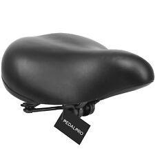 PEDALPRO Black Big Bum Sprung Bike/bicycle Saddle Mens/ladies Cycle Large Seat
