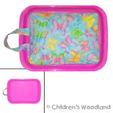 Lap Desk for Coloring - Kids Butterfly Travel Art Tray - Preschooler Artist Girl