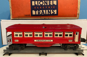 Lionel O gauge Pre war passenger car #2601 Red
