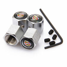 Car Anti-Theft Tire Valve Dust Stems Caps Covers Accessories Logo For Cadillac