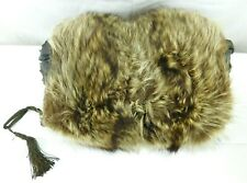 Edwardian Raccoon Fur Hand Muff