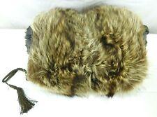 Vintage Edwardian Raccoon Fur Hand Muff
