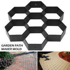 New listing Reusable Path Floor Mould Diy Path Maker Garden Lawn Paving Concrete Mold