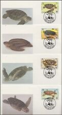 ANGUILLA 1983 WWF TURTLES SET (4) FDC's (ID:527/D46113)