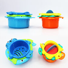 6pcs Baby Bath Swim Animals Colorful Stacking Cup Summer Educational Toys Gifts