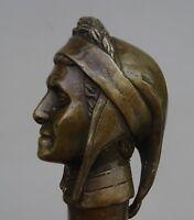jolie Canne Casse Tête - Pommeau En Bronze - aviateur