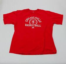 Adidas Chicago Bulls XL Mens NBA Red Basketball Tee Shirt