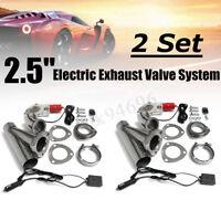 2x 2.5'' Electric Exhaust Valve Catback Downpipe System Remote Cutout E-cut  /