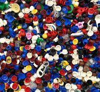 LEGO BULK LOT OF 50 MINIFIGURE HELMETS HATS HEADGEAR CAPS PIRATE TOWN CITY MORE
