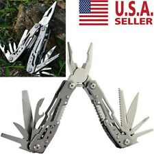 Survival Plier Fold Pocket Screwdriver Multi Tool Camping Outdoor Hiking Knives