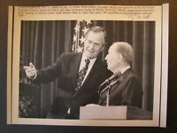 AP Wire Press Photo 1989 Pres Bush Urges Western Allies to Stand Their Guard