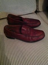 mens brown leather loafers size 10 tan penny loafer Town & Country Classics