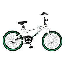 "MUDDYFOX TAIL WHIP 20"" INCH WHEEL STEEL 11"" FRAME BMX BICYCLE BIKE WHITE GREEN"