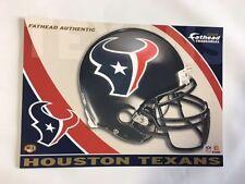 """Houston Texans Helmet Fathead Tradeable 5"""" x 7""""  team logo - # H13"""