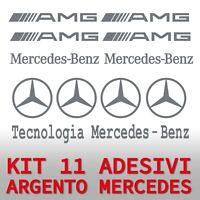 adesivo mercedes benz 11 AMG argento classe A C GLE E FRENI SPECCHIETTI