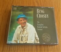 BING CROSBY COMLETE UNITED ARTISTS SESSIONS1997 UK 3 x CD ALBUM IN FAT BOX