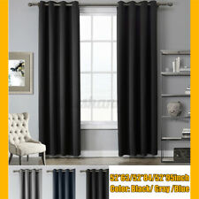 Polyester Insulated Blackout Curtains Eyelet Ring Top Outdoor Patio Curtains