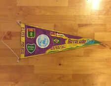 """1957 SUEZ CANAL CRISIS UNITED NATIONS BANNER PENNANT 17"""" BRAZIL BATALH?O"""