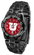 Utah Utes Ladies Women AnoChrome Fantom Black Sport Watch & Scarf