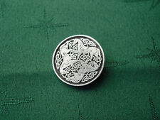 Celtic Horse Epona Button, 25mm diam, Handcrafted in Fine Lead-Free Pewter