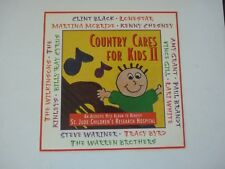 Country Cares Kids II Black Chesney Cyrus LP Record Photo Flat 12x12 Poster