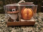 Hay Market SALT AND PEPPER SHAKERS THANKSGIVING Gnome  And Pumpkin  FALL DECOR
