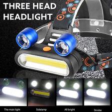 Rechargeable 15000LM 2x XM-L T6 LED +COB 18650 Bright Headlamp Head Light Torch