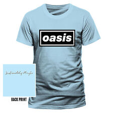 Oasis Mens Blue Classic Logo Definitely Maybe T-shirt Official Unisex Gallagher L PE11344TSCPL
