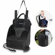 Portable Foldable Travel Seat Booster Safety Dining High Chair Baby Toddler BLK