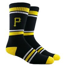 MLB Pittsburgh Pirates Youth Crew Socks with Topps Cards Size 1 - 6