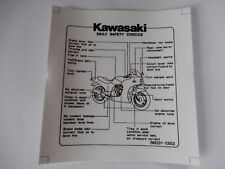 KAWASAKI gpz900r gpz750r Adesivo Decal DAILY maintenance