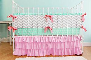 Nursery Bedding Baby Crib/Mini crib Ruffle Skirt  Solid 23 Color