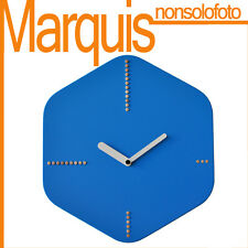 Reloj de pared Art. 045 Hexágono color azul rosa chiaro 5012 Pirondini Marquis