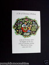 #H153- Vintage Erica Von Kager Xmas Greeting Card Mother & Son Making a Wreath