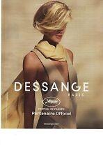 PUBLICITE 2012  DESSANGE coiffeur officiel du festival de Cannes