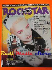 rivista ROCKSTAR 74/1986 POSTER Simply Red Boy George Peter Gabriel R.E.M *No cd