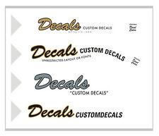 Custom Waterslide  Decals Stickers Guitar Headstock