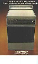 PUBLICITE  1973     THERMOR  cuisinière éléctrique 2011TV  éléctroménager
