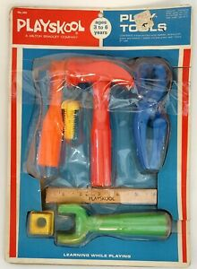 1972 Vintage PLAYSKOOL PLAY TOOLS - Never Fully Opened But Taped Shut - Made USA