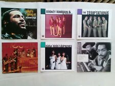Six Rhythm and Blues and Funk CD booklets( Motown, Gamble and Huff, James Brown)