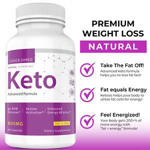 Quick Shred Keto Diet Pills Enhance Energy Focus Advanced Weight Loss Fat Burner